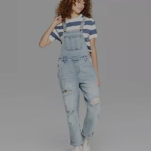 Denim - Wild Fable Distressed Overalls Size Large